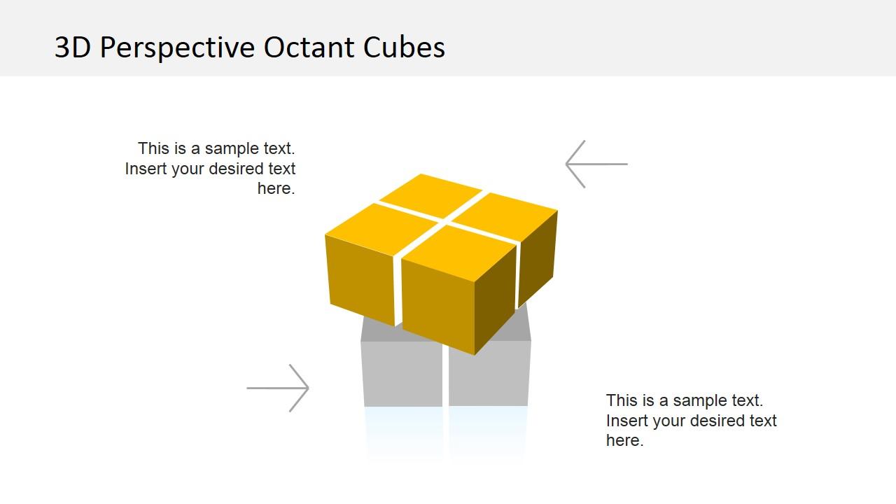 Shifting 3D Quadrant PowerPoint Slide