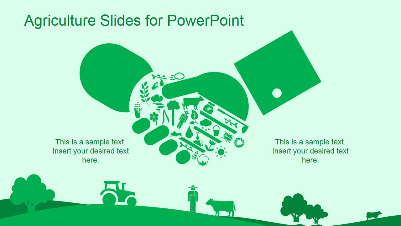 green agriculture template for powerpoint slidemodel