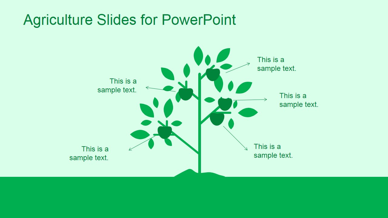 Green Agriculture Template For Powerpoint