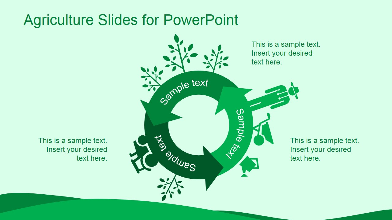 Green agriculture template for powerpoint slidemodel green agriculture template for powerpoint is a ppt template for microsoft powerpoint that you can download and use to make presentations on agriculture and toneelgroepblik Images