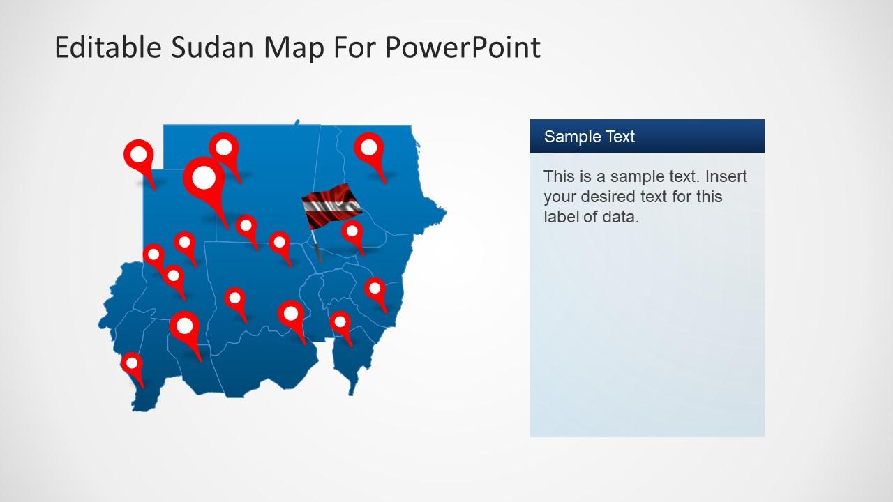 Editable Sudan PowerPoint Map
