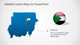 Sudan Map with Country Flag