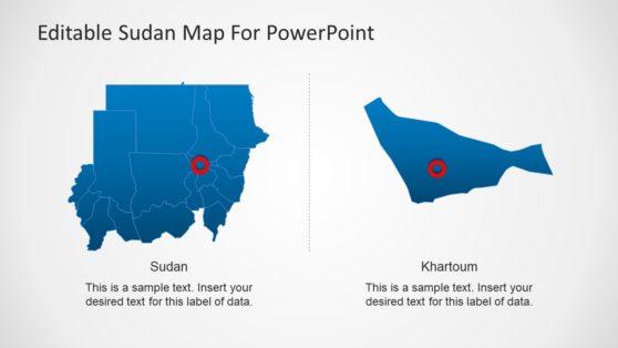 Sudan Capital Map Templates