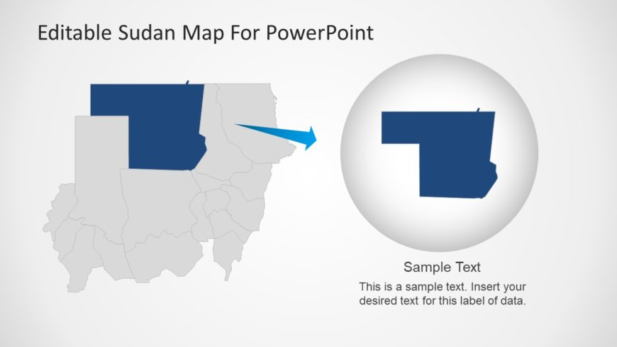 North Sudan Map Templates for PowerPoint