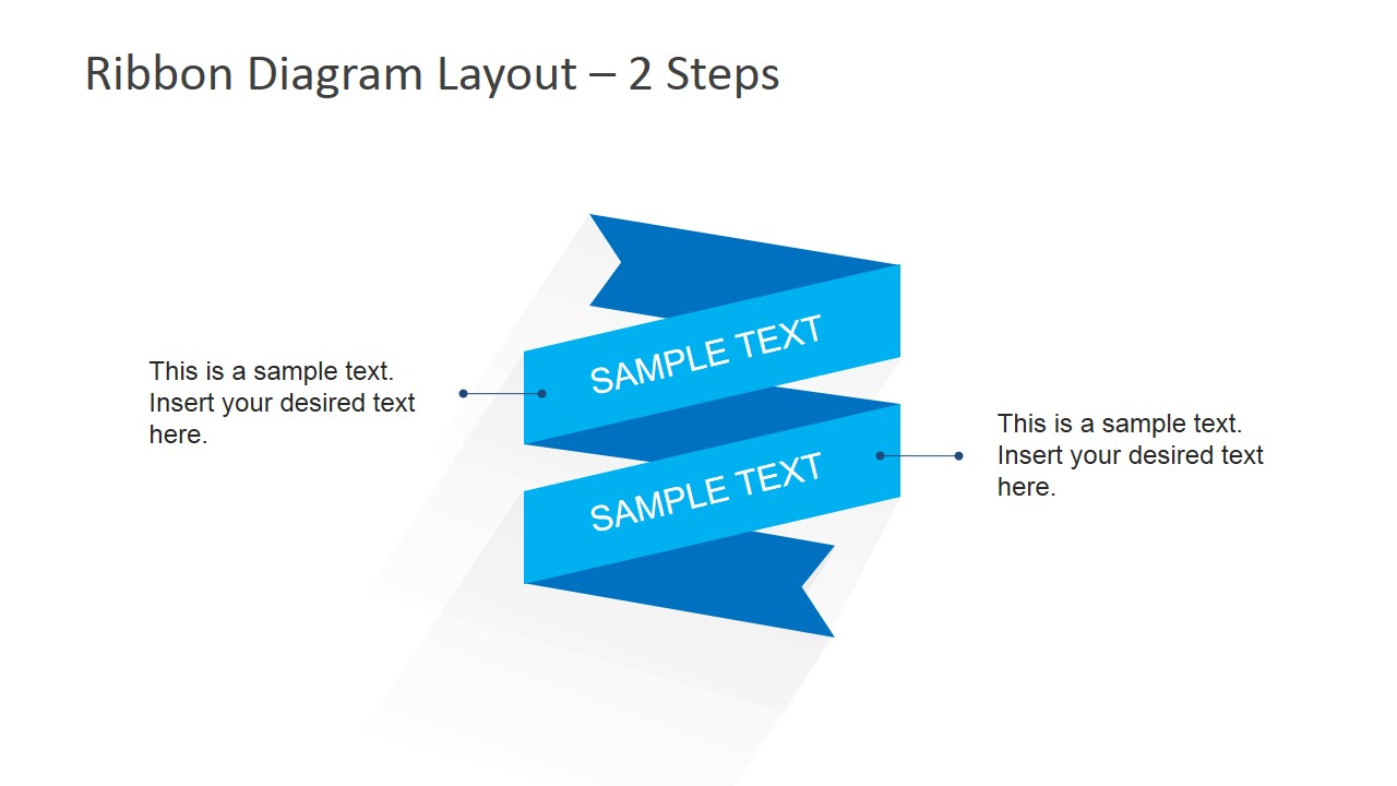 Flat Ribbon Diagram Layout for PowerPoint - SlideModel