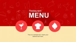Cool Restaurant Menu PowerPoint Template
