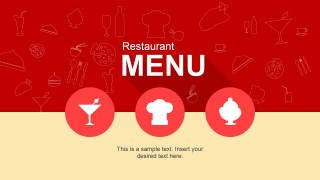 Dish Menu PowerPoint Slide