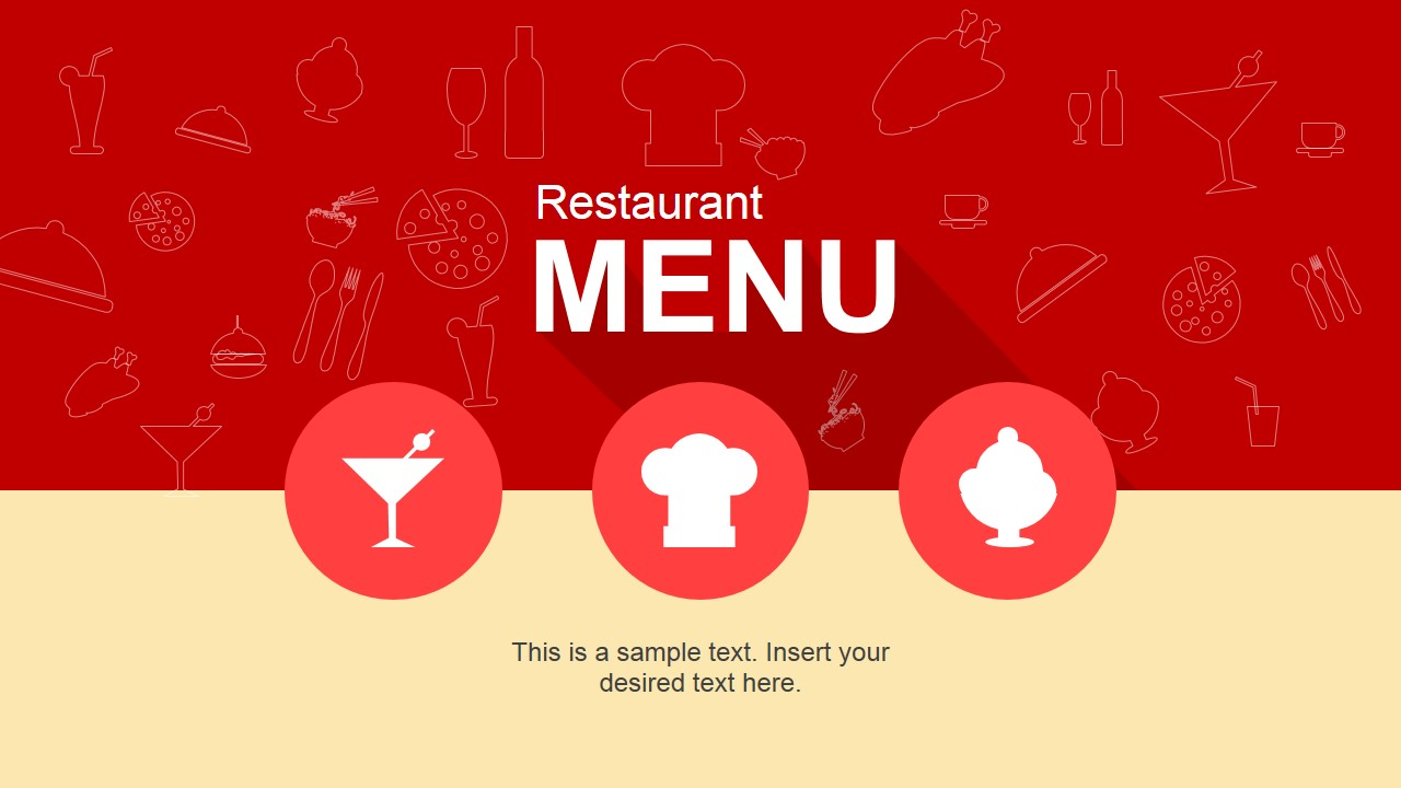 Restaurant Menu PowerPoint Template SlideModel - Powerpoint restaurant menu template free