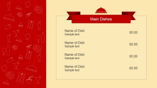 Dinner Menu PowerPoint Template