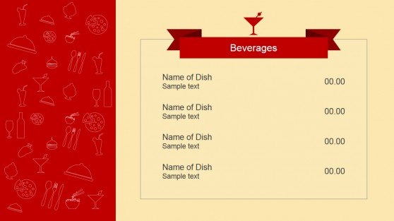 Beverages Menu PowerPoint Template