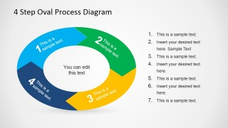 Oval Process Slide Design for PowerPoint