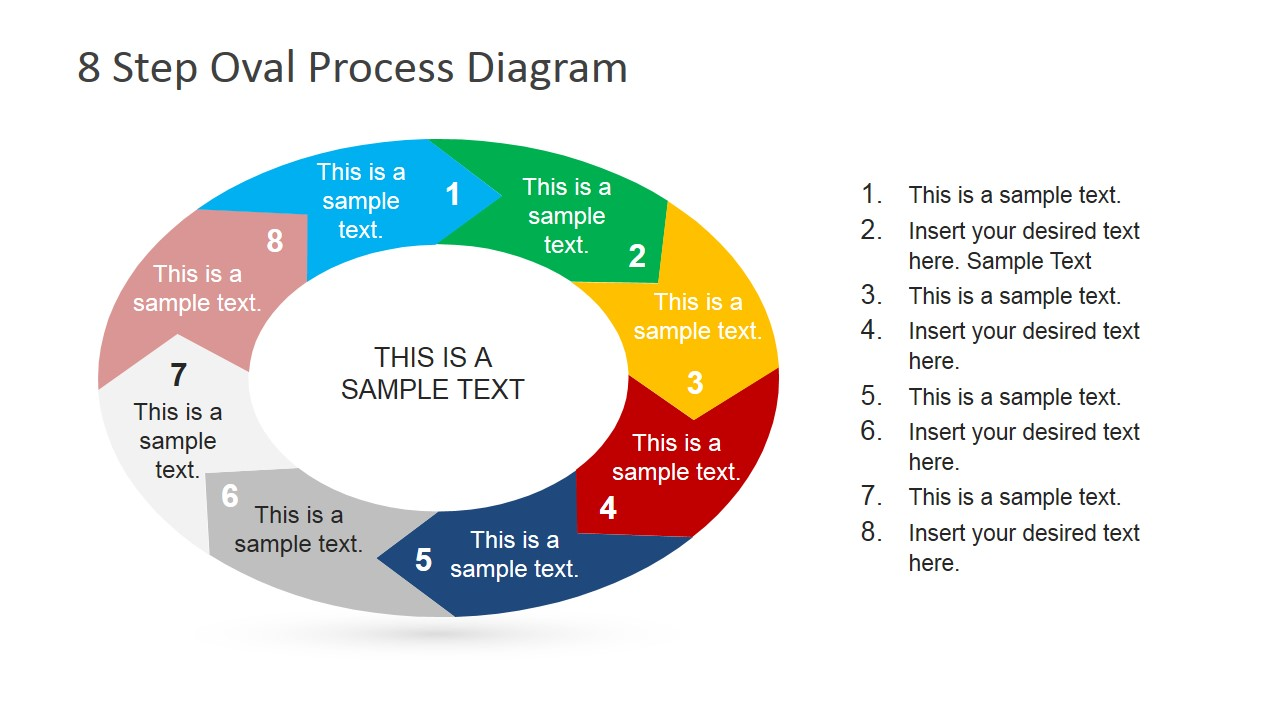 8 Steps Oval Process    Diagram    for PowerPoint  SlideModel