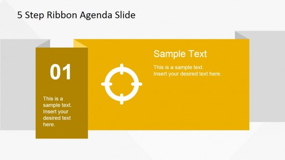 01 Ribbon Slide Design for PowerPoint