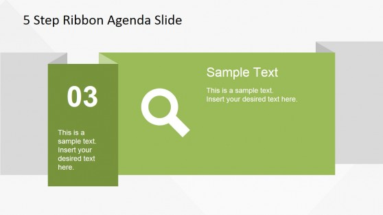 03 Ribbon Slide Design for PowerPoint