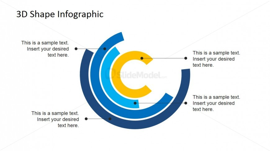 Flat Concentrical Incomplete Circles Layered Diagram For Powerpoint