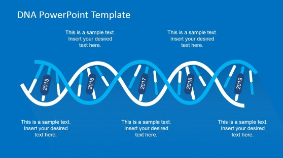 DNA Spiral Design Timeline for PowerPoint