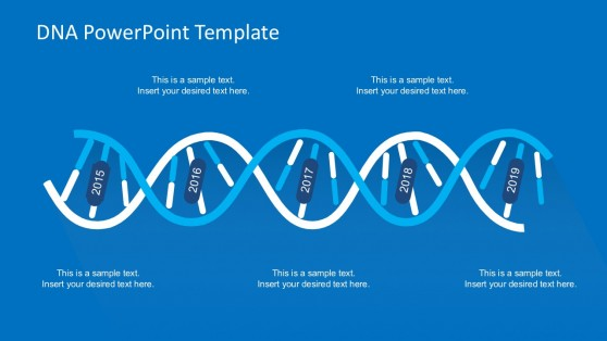 Timeline DNA Strand Concept for PowerPoint