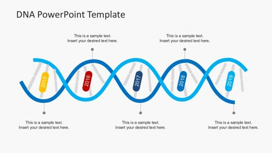Annual Comparison DNA Concept for PowerPoint