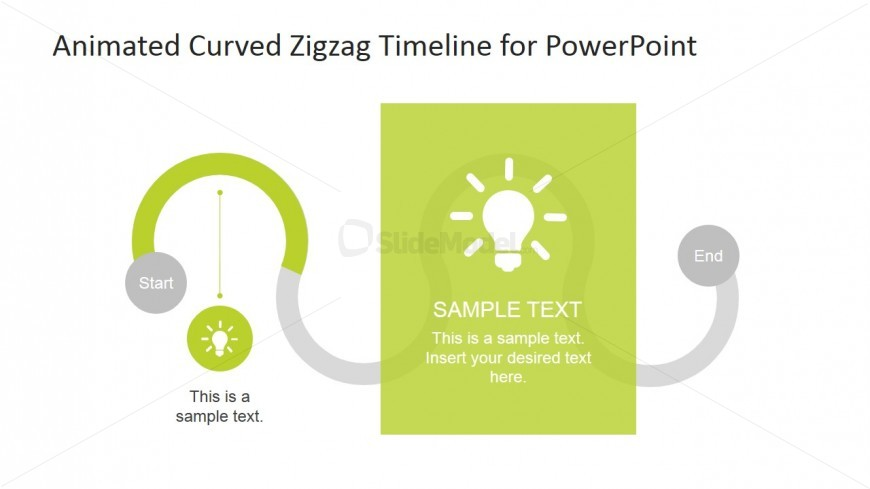 PowerPoint Curved Timeline First Stage