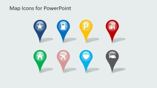 PowerPoint Clipart Icons for GPS Markers