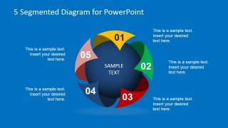 Creative Spherical 5 Steps Diagram for PowerPoint