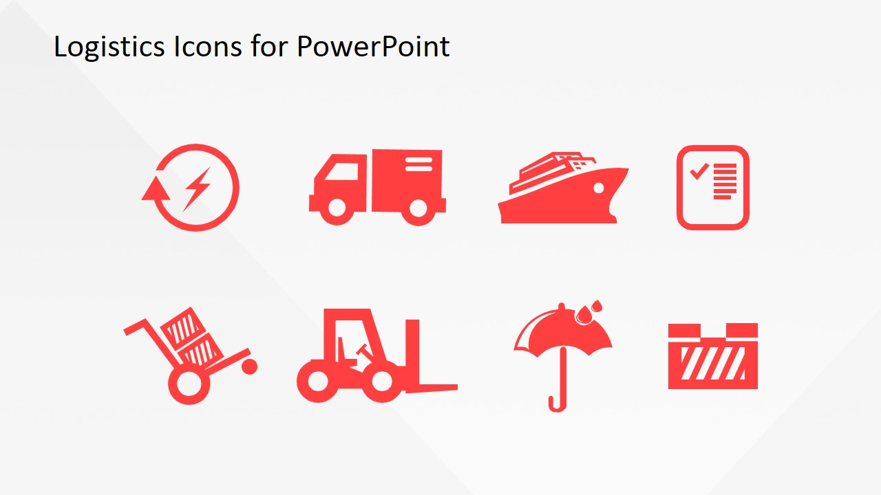 Logistics icons for powerpoint slidemodel powerpoint clipart featuring logistics toneelgroepblik Image collections