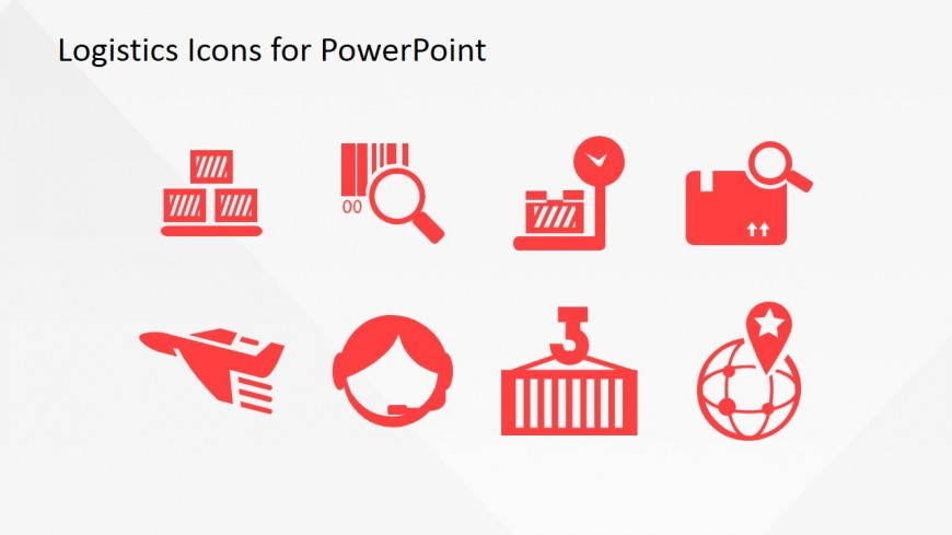 PowerPoint Slide with Logistics Icons
