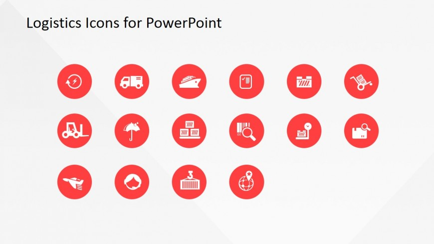 Transportation and Logistics PowerPoint Shapes SlideModel