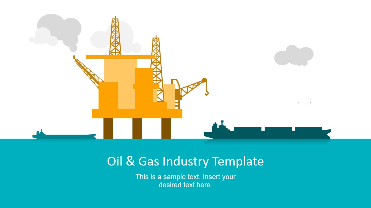 oil & gas industry powerpoint template - slidemodel, Presentation templates