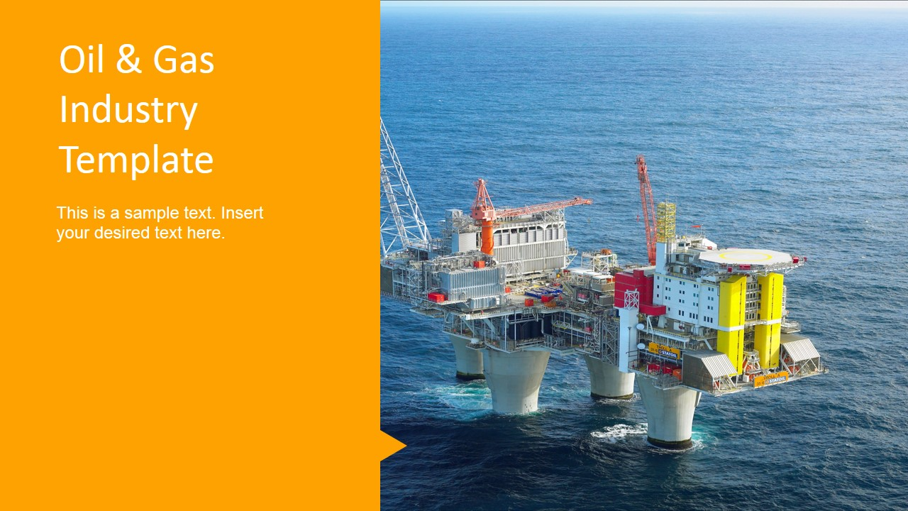 oil & gas design platform photo background - slidemodel, Presentation templates