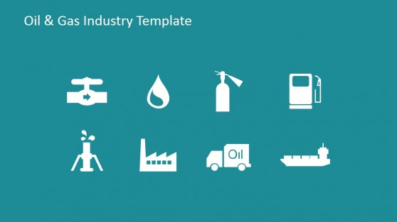 Flat Icons of Oil and Gas Industry for PowerPoint