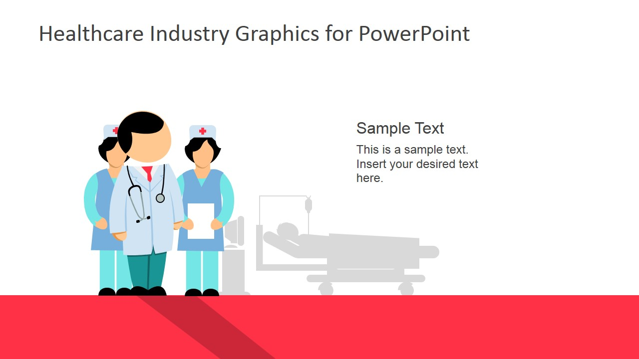 Doctor And Nurses For PowerPoint Healthcare Industry
