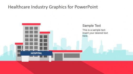 Hospital PowerPoint Shapes Background Slide