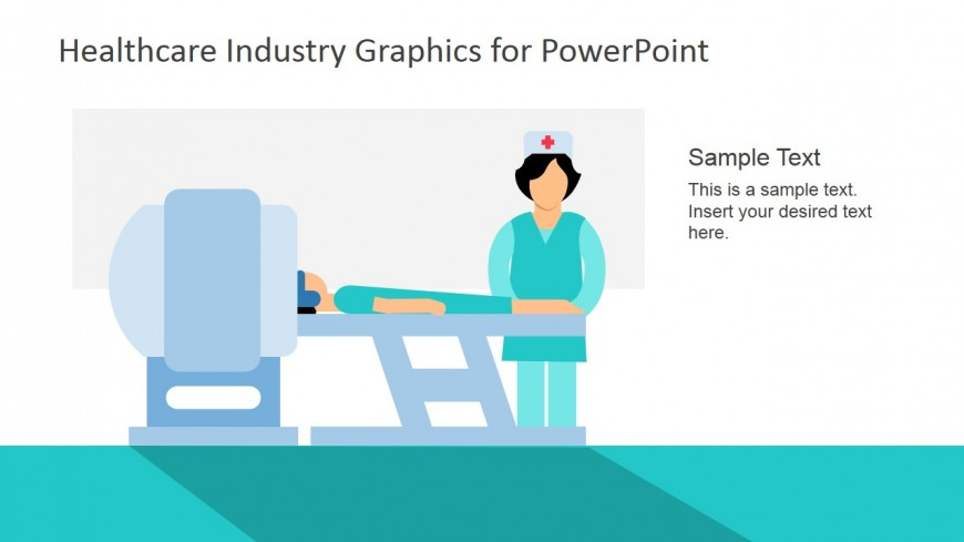 PowerPoint Clipart of MRI with Patient and Doctor