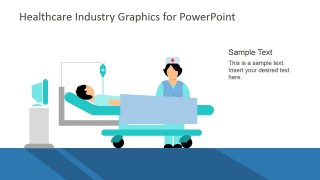 PowerPoint Slide with Patient in Hospital Bed