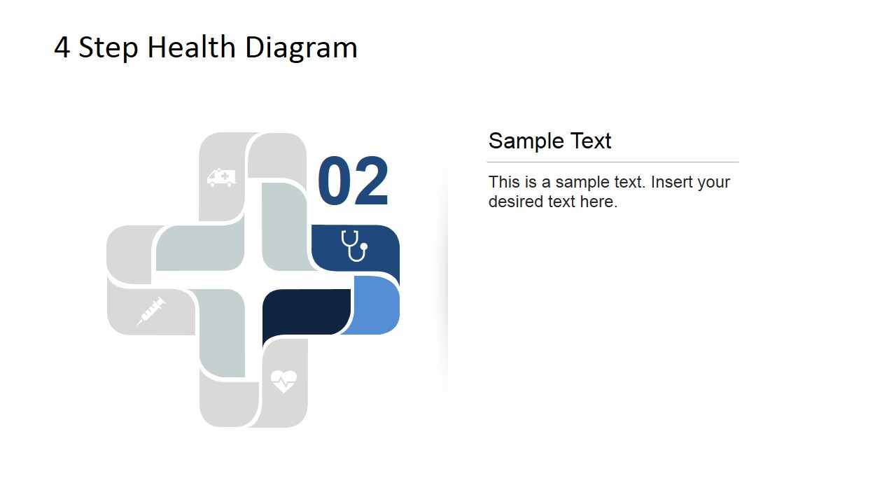 Doctor and Nurses 4 Step Healthcare Diagram for PowerPoint