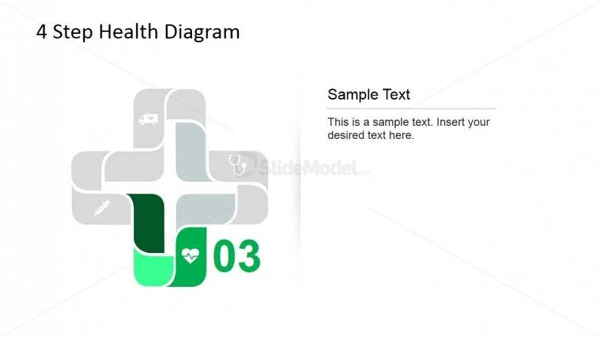 Heart monitor icon for 4 step Cross Diagram