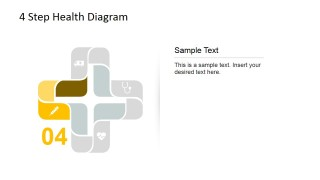 Injection Icon for 4 step Cross Diagram for PowerPoint