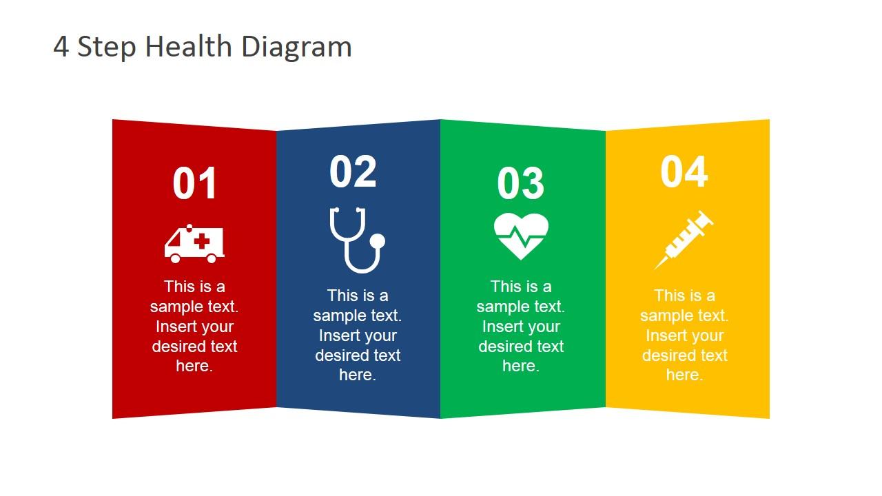 4 Step Cross Healthcare Diagram for PowerPoint - SlideModel