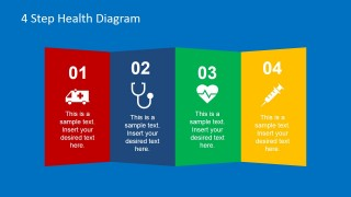 Colored Vertical Panels with Healthcare PowerPoint Icons
