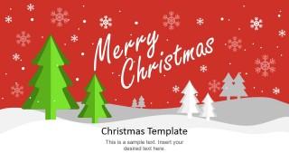 PowerPoint Slide Merry Christmas Scene