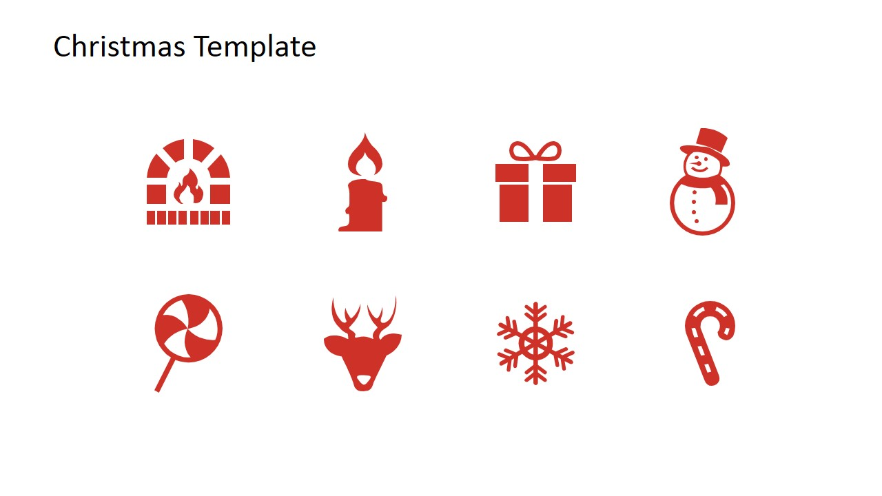 Christmas powerpoint template slidemodel christmas icons for powerpoint alramifo Images