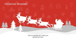 PowerPoint Shapes of Reindeer and Santa Claus Sledge