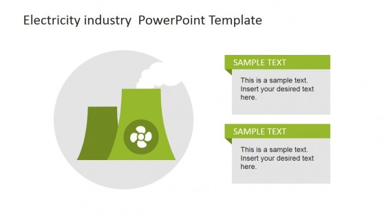 Green Nuclear Reactor Icon for PowerPoint