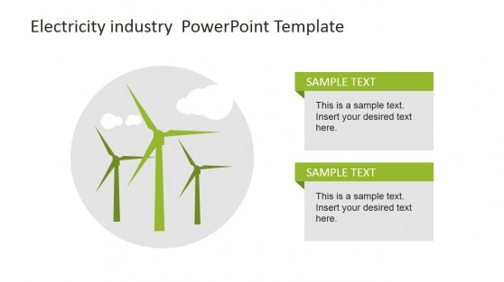 Wind Turbine Icons Featuring Clean Energy