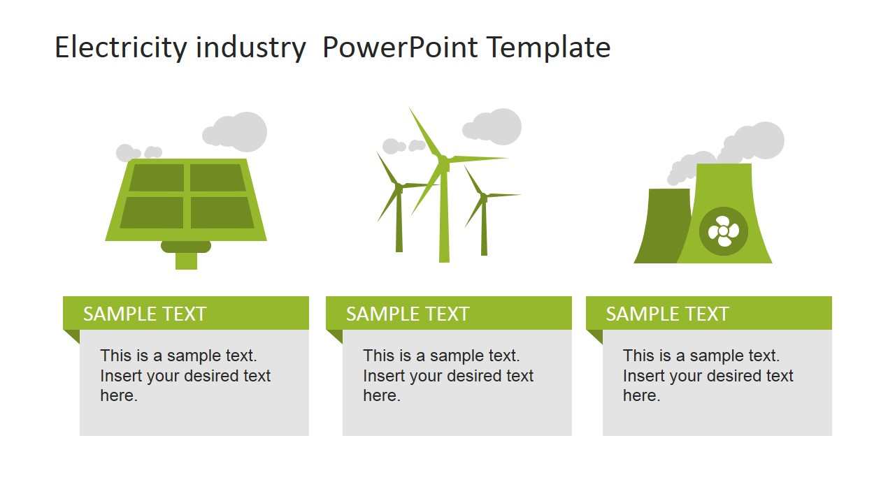 Electricity Industry Powerpoint Template Slidemodel Nuclear Power Plant Diagram Ppt Clean Energy Generation Sources Slide World