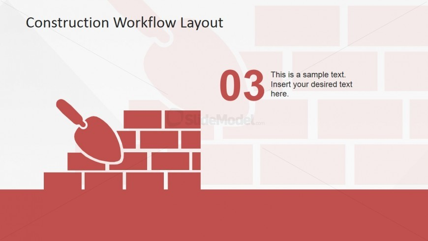 PowerPoint Icons of Wall Bricks and Trowel