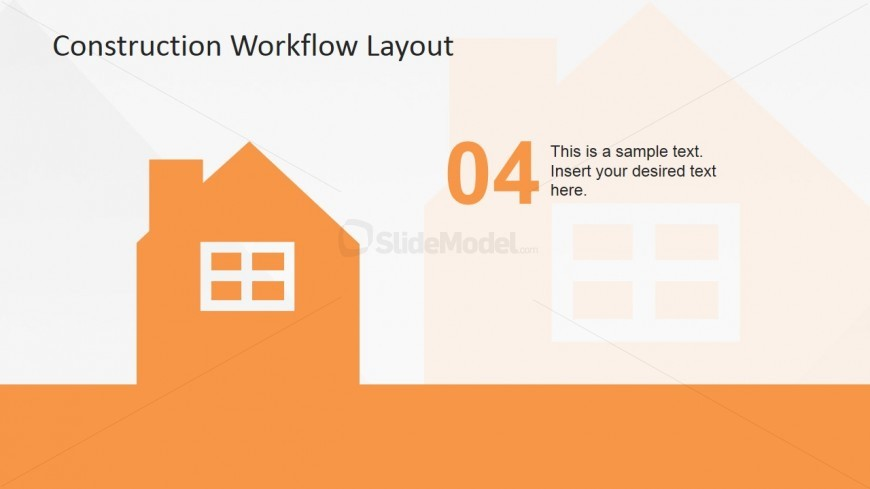 PowerPoint House Icon for Construction Industry