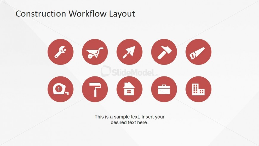 Flat Design Construction Industry PowerPoint Icons