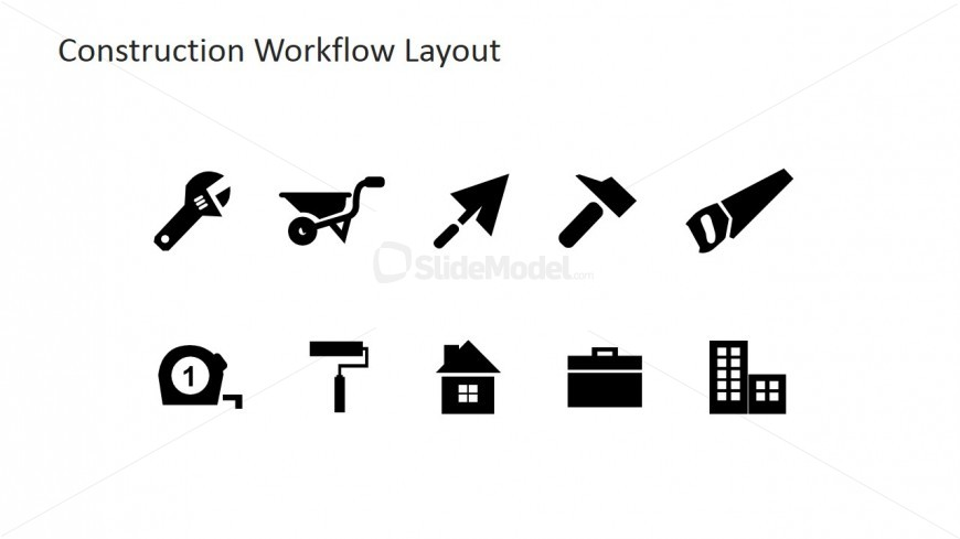 PowerPoint Clipart Vectors of Construction Industry